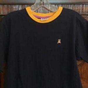 Teddy Fresh Short sleeve T Navy w orange trim